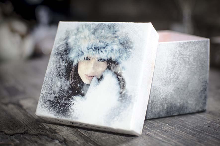 подарочная коробка для подарков на Новый год