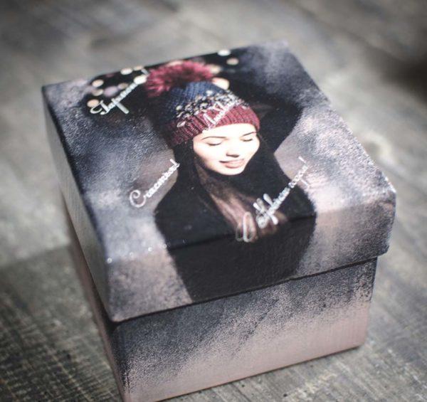 подарочная коробка для елочного шара 8 см
