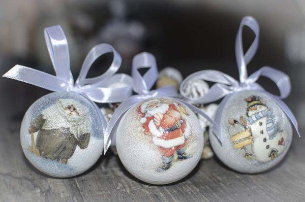 шар 6 см с рождественским изображением