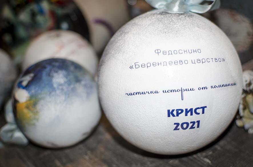 Печать на елочных шарах
