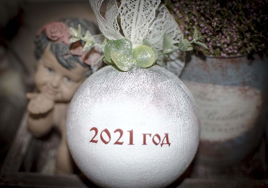 елочный шар 10 см с логотипом