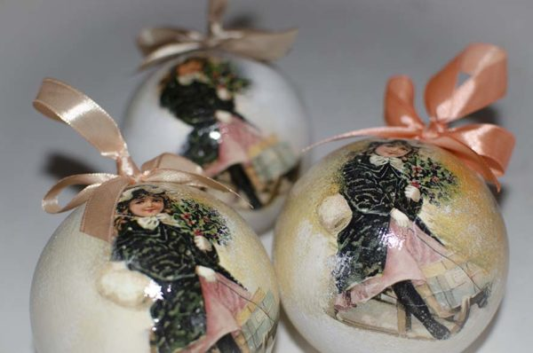 новогодние елочные шары ручной работы