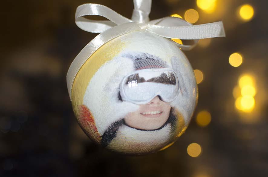 Елочный шарик с фото