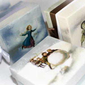 елочные шары в подарочных коробках ручной работы