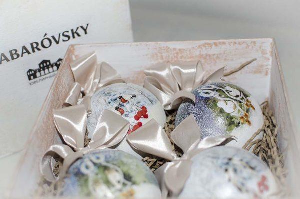 подарочные наборы с елочными шарами с логотипом