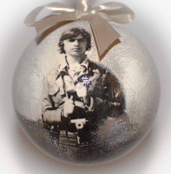 елочный шар 10 см с фотографией