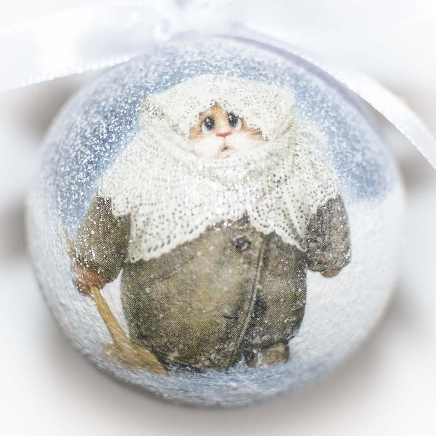 елочный шар с котиком