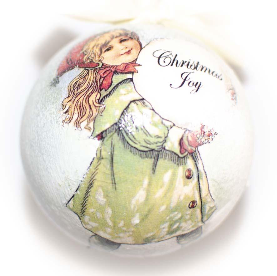 ЕЛОЧНЫЙ ШАР с девочкой с шаром