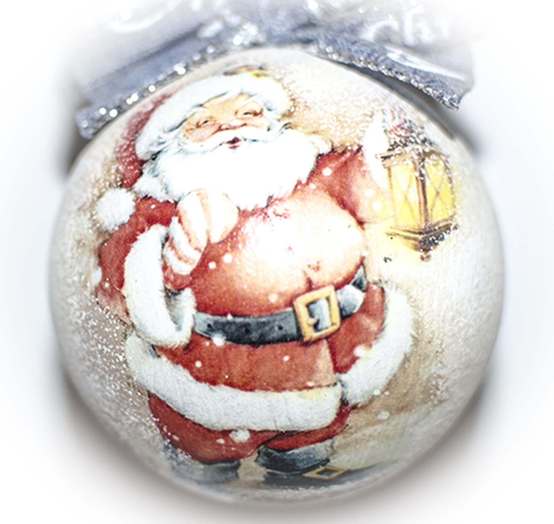 елочный шар с дедом морозом