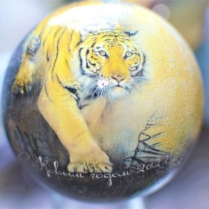 елочный шар тигр