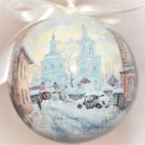 елочный шар с видом Воронежа