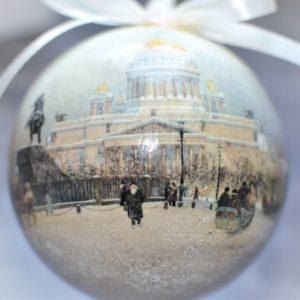 елочные шары с видом Санкт-Петербурга
